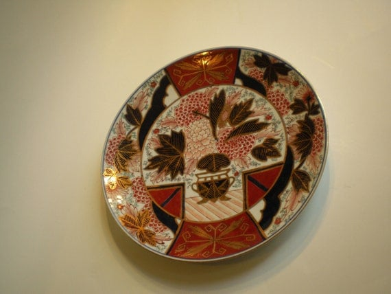 Beautiful Old Japanese IMARI Charger Platter artist signed
