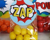 Printable Superhero Favor/Treat Bag Toppers- Superhero Collection