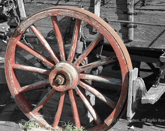 Wagon Wheel Various Sizes Matted Photograph