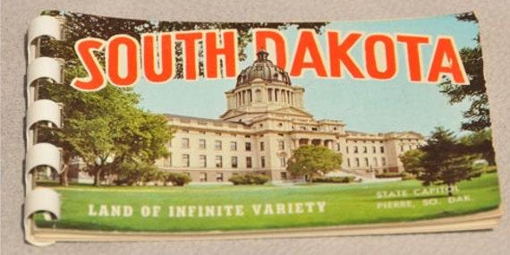 3 Miniature SOUVENIR PHOTO BOOKS - Wyoming, South Dakota and Mt Rushmore