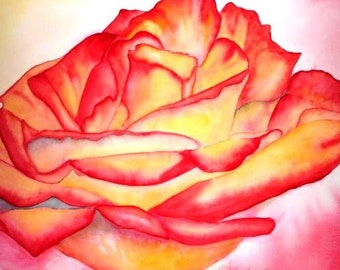 Original Framed Watercolor -The Rose-