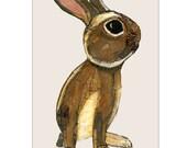 A4 Rabbit Signed Print