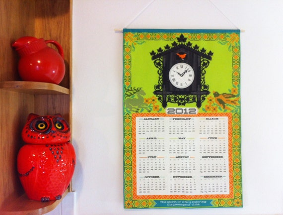 2012 Custom Calendar Tea Towel