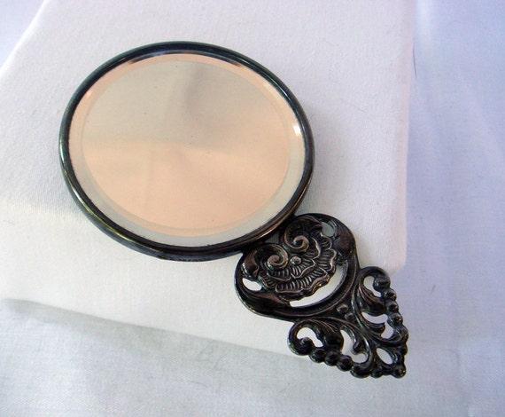Hand Mirror Denmark Ornate Vintage