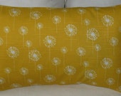 NEW 12 x 18 Lumbar Pillow Dandelion Corn Yellow