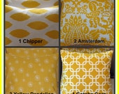 Now  FREE SHIPPING your choice of our most Popular Corn Yellow Pillow Covers Set of Two 18 x 18