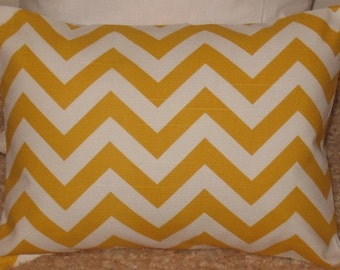 SALE 12 x 16 Lumbar Pillow Zigzag Corn Yellow