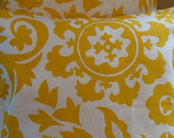 Two  Corn Yellow Collection  18 x 18 Pillow Covers Suzani Yellow