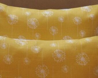 New SALE Two  18 x 18 Premier Prints Yellow  Dandelion corn yellow