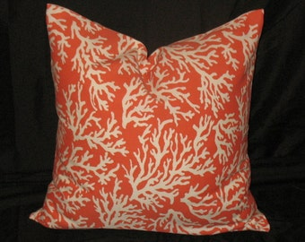 New   Pillow Covers Indoor/outdoor Faylinn Coral Nine Sizes