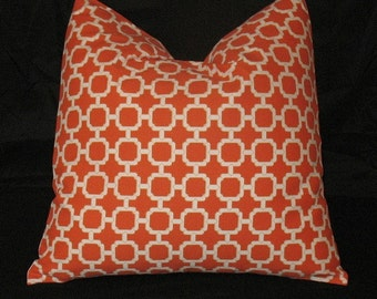 New Two 18 x 18 Pillow Covers Manderin Orange