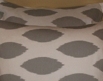 SALE New 18 x 18 Pillow Covers Chipper Grey BOTH SIDES
