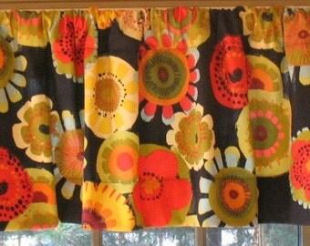 SALE  Window Curtain-Valance Confetti Ebony