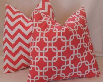 NEW RELEASE Two 18 x 18 Coral Gotcha  and Coral Zigzag  Premier Prints