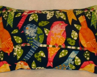 SALE   12 x 18 NAVY Birds Navy Pillow Cover