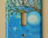original watercolour light-switch cover