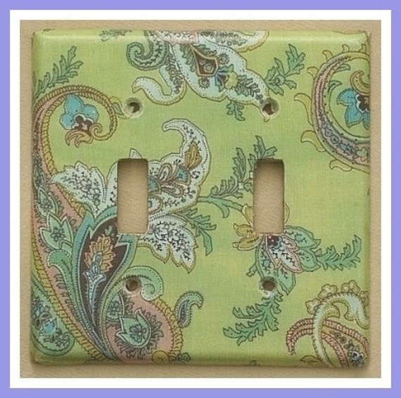 lightswitch covers.  paisley and more paisley