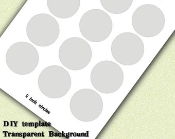 INSTANT DOWNLOAD-DIY Circle Graphics Template 2 inch Print Your Own Graphic Images-Bottlecaps-Alta Caps-Hairbows-Jewelry-Favors