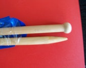 Needle Crafters knitting needles, size 19, 13.5 inches, wood
