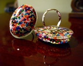 Resin Sprinkle Ring- Yummy Egg