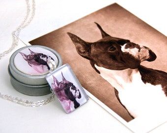 Custom Boxer Dog Glass Pendant Charm Necklace