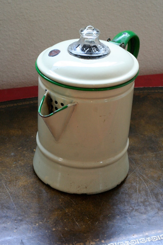 Vintage Pyrex Enamel Coffee Pot