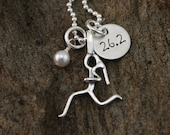 Run, Girl, Run Necklace - Runner Girl  Jewelry - Sterling Silver Hand Stamped Runner Necklace