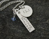 Disney Princess Half Marathon Necklace  -  Hand Stamped Sterling Silver Necklace