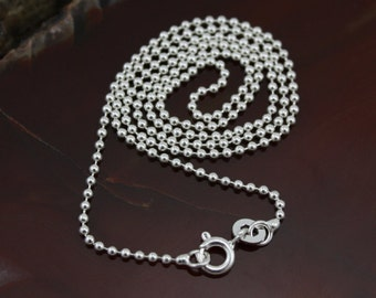 18 Inch Sterling Silver Ball Chain - 1.5mm