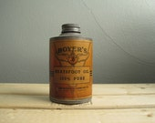 1800s Boyer's Neatsfoot Oil Can Relic Print Design