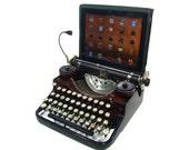 USB Typewriter -- Underwood with Faux Walnut Finish