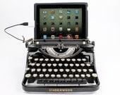 USB Typewriter Computer Keyboard -- Black Underwood Model F w/ Glass Keys