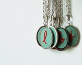 Embroidered Necklace. Gifts for her. Custom Letter, Initial, Monogram.  Made Just For You by merriweathercouncil on Etsy.