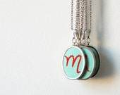 Initial Jewelry, Embroidered Necklace. Customizable Gift. Design Your Own. by merriweathercouncil on Etsy.