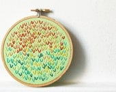 Cyber Monday Sale 40% off - Hoop Wall Art. Hand Embroidered Wishbone Circle in 4 inch Hoop.  By merriweathercouncil on Etsy