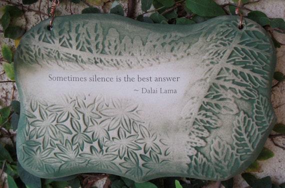 Inspirational Dalai Lama Quote Ceramic Plaque - Green