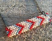Chevron Friendship Necklace -Red, Baby Blue, Cream, Light Pink