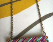 Chevron Friendship Necklace -Mint, Jade, Orange, Fuchsia, and Purple