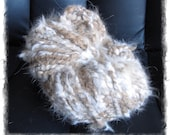 OCTOBERFEST SALE  Trick or Treat Chocolate Tort Hand Spun Angora/Alpaca
