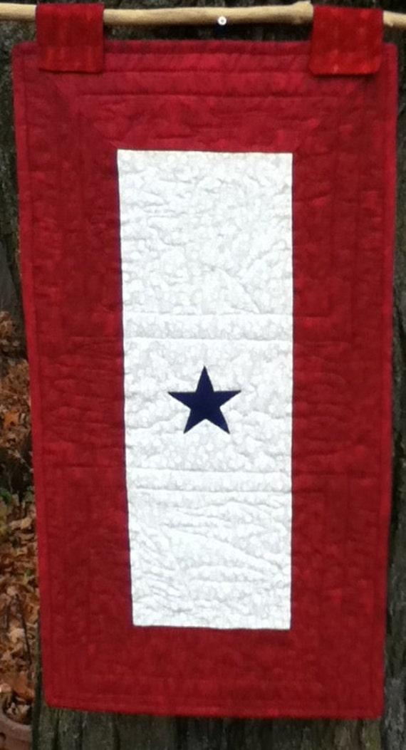 blue star flag quilt