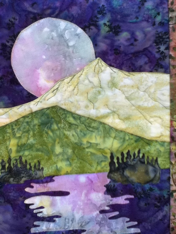 Easy Landscape Art Quilt Pattern Tutorial By