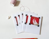 Chicken Nugget Of Love Photo Notecards, Set of 5 Blank Handmade Cards