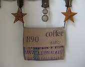 Cool Graphic Laptop Bag Upcycled from Coffee Sacks