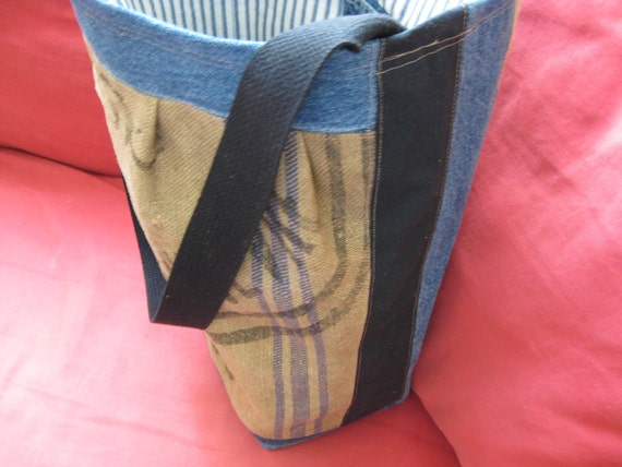 1929 FRENCH VINTAGE Grain Sack UPCYCLED into chic Bag