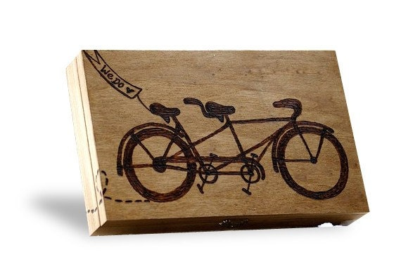 Wedding Planner Gift Box : Bike Lovers Wedding Gift Card Box or Gift Box...
