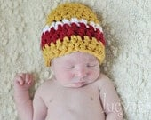 Newborn Boy Beanie Hat - Choose Your Favorite Sports Colors, Football Beanie Hat for Baby