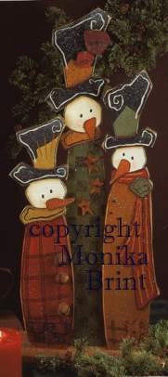 Snow Folk are in Town-Holiday-Christmas Decoration-Woodworking Pattern-Outdoor Decoration-Yard Art-Snowmen
