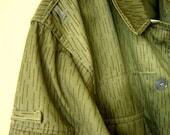 Vintage Military Tunic Camouflage shirt, rain pattern, FreshUrbanVintage on Etsy