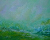 Green Series, 1- Abstract Landscape  15% OFF use coupon code FEBSALE at checkout
