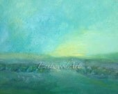 "Abstract Landscape Original Art Painting ""Sunrise"""